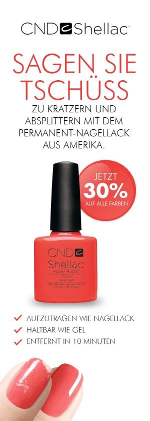 30% auf CND Shellac