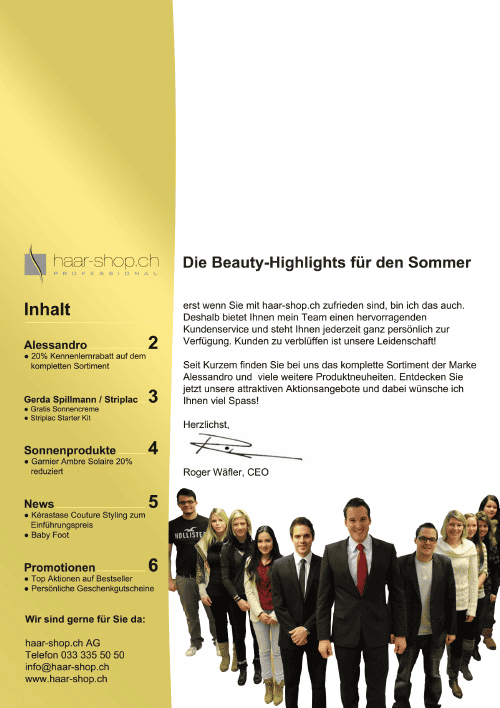 Sommermailing 2013